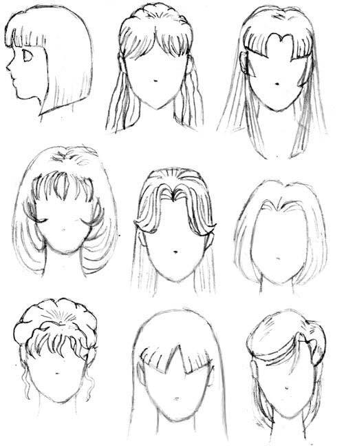 Аниме рисунки причёски