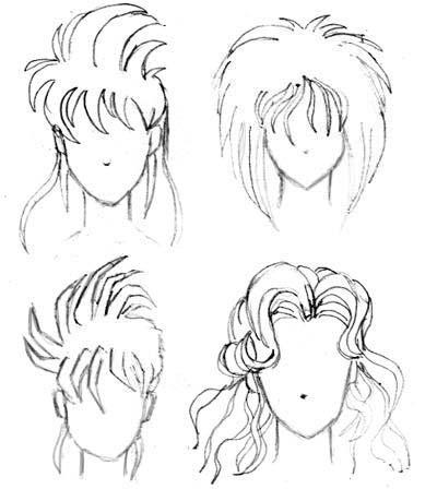 аниме прически для девушек: