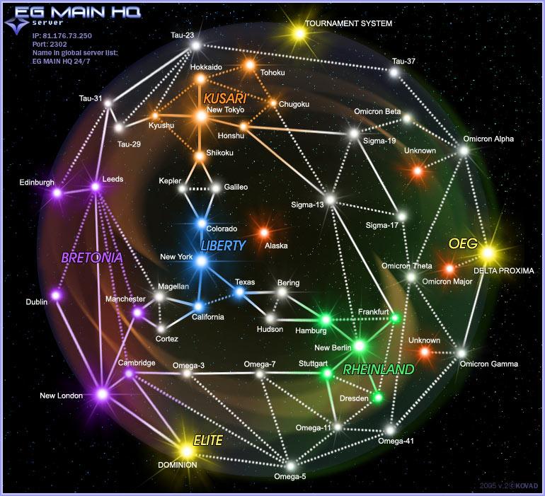 карта систем во freelancer
